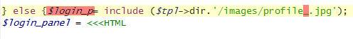 Лишний код в DLE